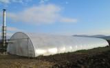320 m2 dupla felfújt fóliasátor