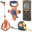 Geo-Fennel lézeres távolságmérők, mérőkerekek, mérőszalagok