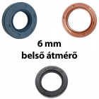 6 mm-es belső átmérőjű szimering