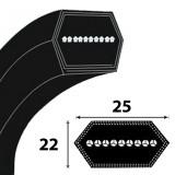 Optibelt 25X22 profilú hatszögletű ékszíj Li