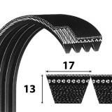 Power Belt HB profilú átlapolt ékszíj La