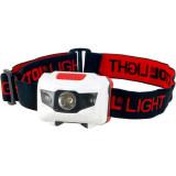 EXTOL LED fejlámpa, 1 W fehér+2 piros LED, 40 Lumen; 4 funkció, elem nélkül