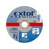 EXTOL csiszoló korong acélhoz, kék; 115×6,0×22,2mm, max 13300 ford/perc