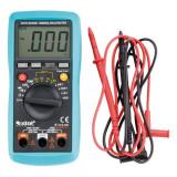 EXTOL digitális multiméter; Amper/Volt/Ohm mérő, hangjelző funkcióval, CE, 3 db 1,5V AAA elem