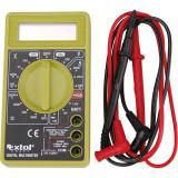 EXTOL digitális multiméter; Amper/Volt/Ohm mérő, hangjelző funkcióval, CE, 1 db 9V elem