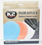 K2 K2PRO DURAFLEX tépőzáras polírkorong - fekete