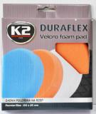 K2 K2PRO DURAFLEX tépőzáras polírkorong - narancs