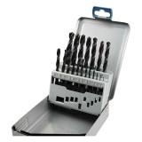 EXTOL fémcsigafúró klt, HSS, DIN 338, fémdobozban;1,0-10,0mm, 19 db