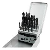 EXTOL fémcsigafúró klt, HSS, DIN 338, fémdobozban;1,0-13,0mm,25 db