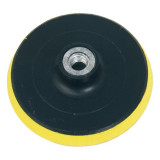 EXTOL gumitányér sarokcsiszolóhoz; 125mm, tépőzáras, max. ford.:12.500 1/min