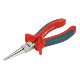 EXTOL kerek csőrű fogó; 160mm duál narancs/kék, TPR nyél, akasztós szerszámtartó