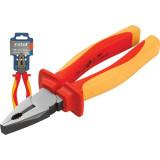 EXTOL kombinált fogó, 160mm, szigetelt,1000V VDE, DIN ISO 5746, CV, duál piros/sárga nyél, akasztós szerszámtartó