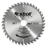 EXTOL körfűrészlap, keményfémlapkás, 185×20mm(lyuk átm), T36; 3,2mm lapkaszélesség, max. 7000 ford/perc