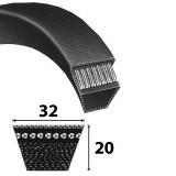 Power Belt klasszikus D/32-es profilú ékszíj Li