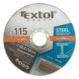 Extol Craft vágókorong fémhez; 125×1,6×22,2mm,max. 12.200 ford/perc, (darabáras, de csak ötösével rendelhető)