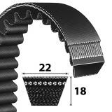 Power Belt XPC profilú keskeny fogazott ékszíj Lw