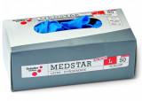 Schuller MEDSTAR LATEX STRONG PF egyszerhasználatos, extra vastag latex kesztyű, púdermentes, kék, 50db/csomag
