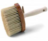 Schuller ARON BASE lábazatkenő kefe kevert sörtével, ovális fa testtel és fa nyéllel, 135 x 55 mm