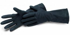 Schuller CLEANSTAR BLACK latex háztartási kesztyű bélés nélkül termék fő termékképe