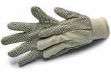Schuller FLORASTAR pamut kerti kesztyű PVC pettyekkel a tenyér oldalon, 10 / XL