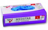 Schuller MEDSTAR NITRIL egyszerhasználatos nitril kesztyű, púdermentes, kék, 100db/csomag