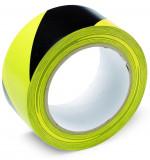 Schuller WARNING TAPE öntapadó figyelmeztető szalag, PVC, sárga-fekete, 50 mm x 33 m