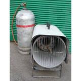 Gázos hőlégbefúvó palackkal 25 kW kölcsönzés