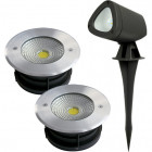 LED kültéri, talajba süllyeszthető, leszúrható lámpatestek