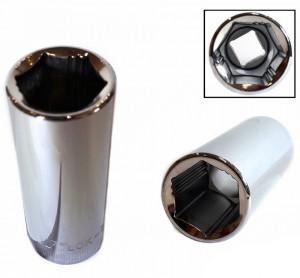 """Welzh Werkzeug 3/8""""-os 6 lapú Lok-Typ dugókulcs fej, hosszított kivitel termék fő termékképe"""