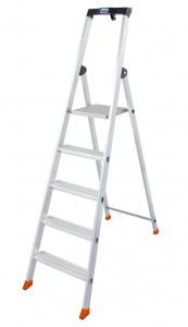 Krause MONTO Solido egy oldalon járható lépcsőfokos állólétra, 5 fokos termék fő termékképe