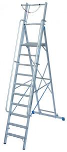 Krause STABILO Professional egy oldalon járható lépcsőfokos állólétra nagy dobogóval és kapaszkodókerettel, 10 fokos termék fő termékképe