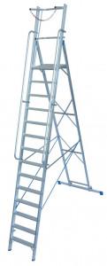 Krause STABILO Professional egy oldalon járható lépcsőfokos állólétra nagy dobogóval és kapaszkodókerettel, 14 fokos termék fő termékképe