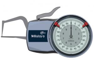 Mitutoyo Tapintókaros mérőóra Ø1.5 mm keményfém gömb és 0.4 mm sugarú kúp tapintóval, külső méréshez, IP65, 0-10 mm, 0.005 mm (209-401) termék fő termékképe