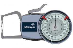Mitutoyo Tapintókaros mérőóra Ø1.5 mm keményfém gömb tapintóval, külső méréshez, IP65, 0-10 mm, 0.005 mm (209-402) termék fő termékképe