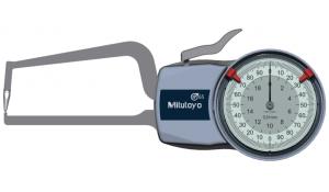 Mitutoyo Tapintókaros mérőóra Ø1.5 mm keményfém gömb tapintóval, külső méréshez, IP65, 0-20 mm, 0.01 mm (209-407) termék fő termékképe