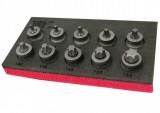 """Welzh Werkzeug 2533-WW 3/8""""-os gépi rátűzőkulcs készlet, extra alacsony, Torx, T10-T55, 10 részes"""