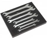 Welzh Werkzeug 2570-WW ultravékony, hosszú villáskulcs készlet, metrikus, 7 részes