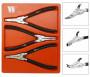 Welzh Werkzeug 4170-WW Seeger-fogó készlet zárógyűrűhöz, 3 részes