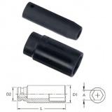"Genius Tools 417810 1/2""-os 6 lapú légkulcsfej, hosszított kivitel, 10 mm"
