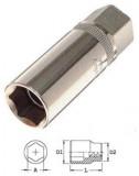 """Genius Tools 427016 1/2""""-os dugókulcs fej gyertyához, 16 mm -es"""