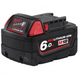 Milwaukee M18 B6 REDLITHIUM-ION™ akkumulátor, 18 V, 6.0 Ah