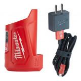 Milwaukee M12 TC kompakt Líthium-ion akkumulátor töltő és áramforrás, 12 V, 2.5/4/5/8 óra