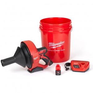 Milwaukee M12 BDC6-202C akkus kompakt lefolyócső tisztító 6 mm-es spirális kábellel (2 x 2.0 Ah Li-ion akkuval) termék fő termékképe