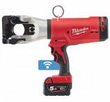 Milwaukee M18 HCC45-522C akkus ONE-KEY™ FORCELOGIC™ szénkefe nélküli hidraulikus kábelvágó (1 x 2.0 Ah és 1 x 5.0 Ah Li-ion akkuval)