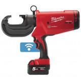 Milwaukee M18 HCCT109/42-522C akkus ONE-KEY™ FORCELOGIC™ szénkefe nélküli hidraulikus kábelkrimpelő (1 x 2.0 Ah és 1 x 5.0 Ah Li-ion akkuval)