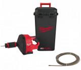 Milwaukee M18 FDCPF10-0C FUEL™ akkus szénkefe nélküli lefolyócső tisztító 10 mm-es spirális kábellel (akku és töltő nélkül)