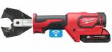 Milwaukee M18 ONEHCC-201C CU/AL-SET akkus ONE-KEY™ FORCELOGIC™ szénkefe nélküli hidraulikus kábelvágó (1 x 2.0 Ah Li-ion akkuval)