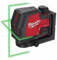 Milwaukee L4 CLL-301C újratölthető 2-vonalas keresztvetítő lézer, zöld