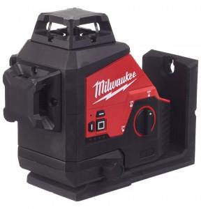 Milwaukee M12 3PL-0C akkus 360° 3 síkú lézer, zöld (akku és töltő nélkül) termék fő termékképe