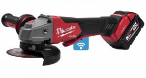 Milwaukee M18 ONEFSAG125XPDB-502X akkus ONE-KEY™ FUEL™ RAPIDSTOP™ szénkefe nélküli sarokcsiszoló (2 x 5.0 Ah Li-ion akkuval) termék fő termékképe
